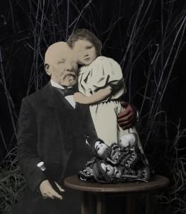Niña y abuelo